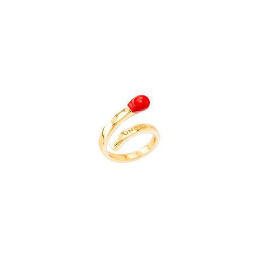 anillo rojo y dorado uno de 50