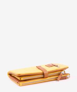 billetera amarilla acostada abbacino