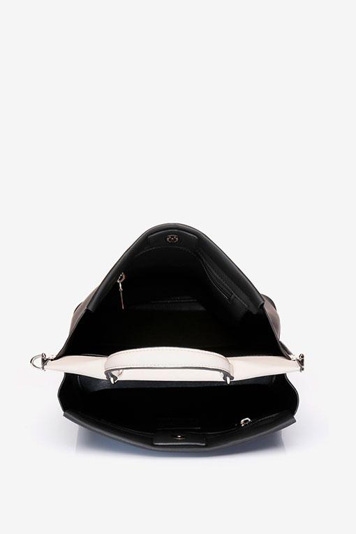 bolso negro abierto abbacino