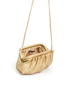 bolso pochette oro