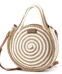 bolso redondo blanco