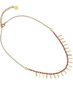 collar multicharm bolas rosas palos dorados de anartxy