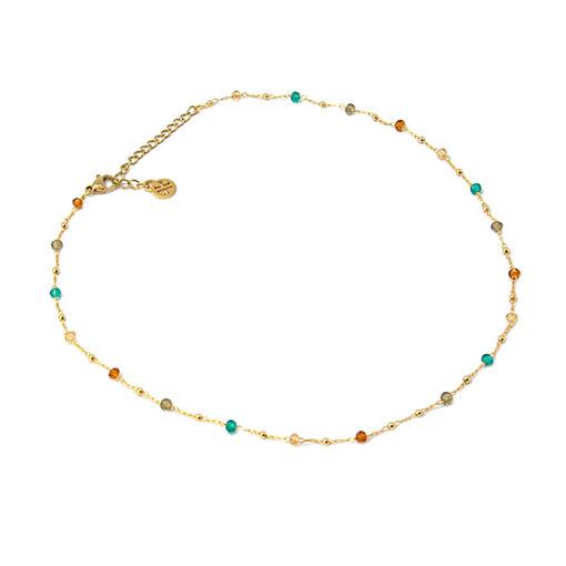 collar multicharm cadena multicolor dorado anartxy