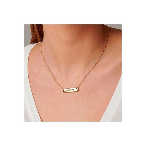 collar placa dorada uno de 50