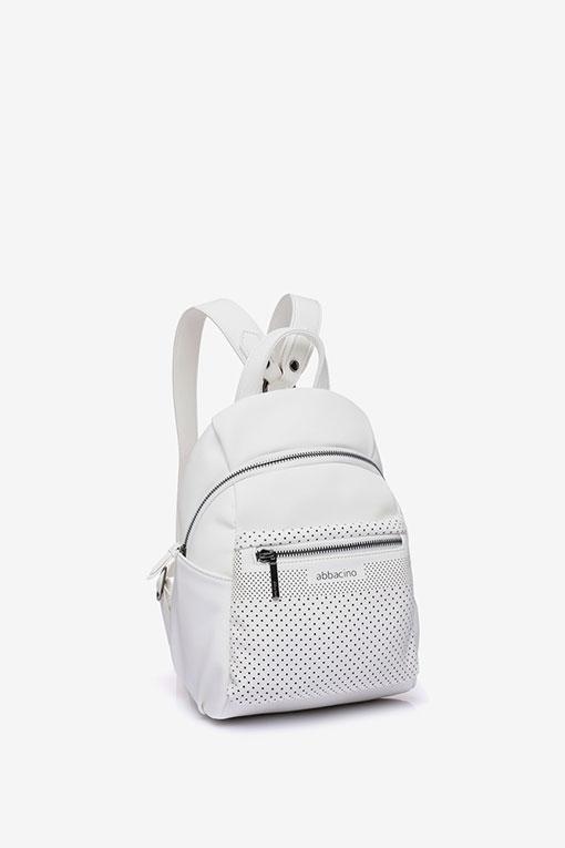 mochila blanca abbacino