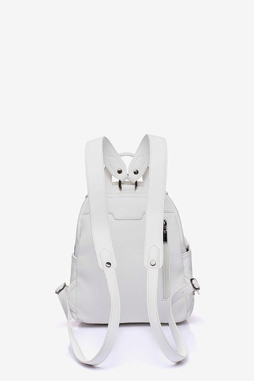 mochila blanca trasera abbacino