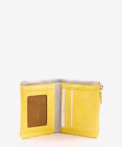 monedero amarillo abierto abbacino