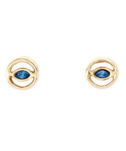 pendientes pop eye dorados uno de 50