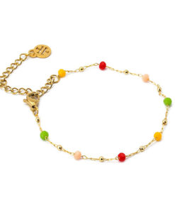 pulsera multicharm cadena multicolor claro anartxy