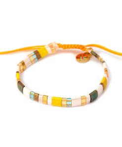pulsera multicolor amarilla anartxy