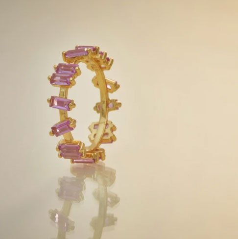anillo pink sapphire kommo