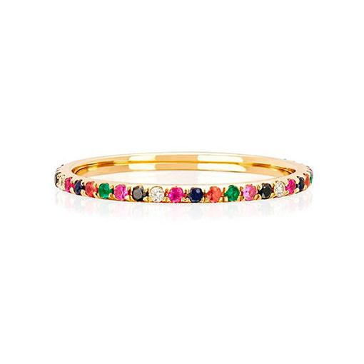 anillo rainbow gold kommo