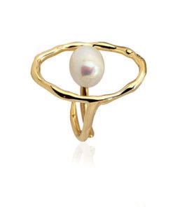anillo perla centro