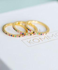 anillos rainbow gold