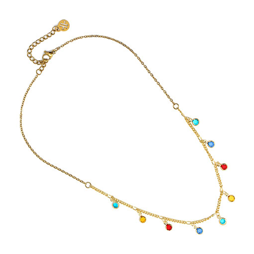 collar charm piedras color