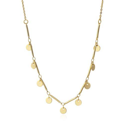 collar charms dorados