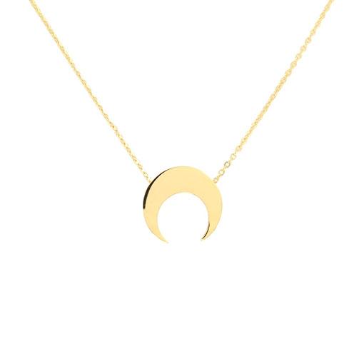 collar luna dorado