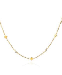 collar multicharm dorado estrellas