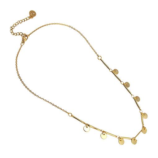 collar multicharm dorado