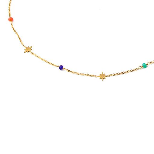 collar multicharm estrellas colores