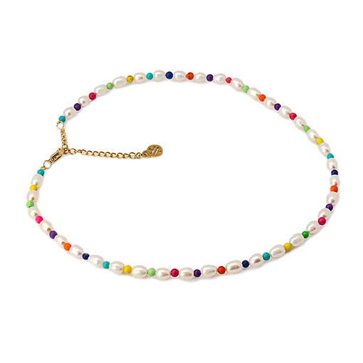 collar perlas colores
