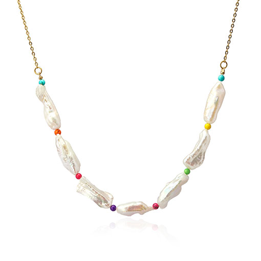 collar perlas irregulares color