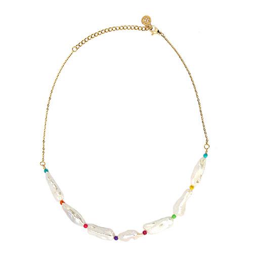 collar perlas piedras