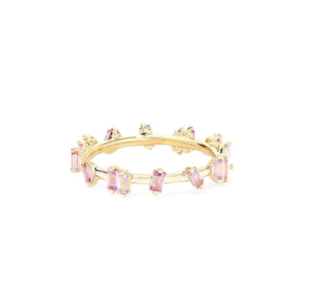 pink sapphire anillo