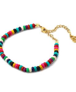 pulsera multicolor cuentas