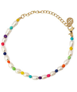 pulsera perlas color