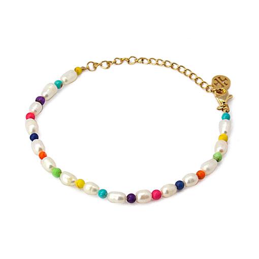 pulsera perlas color anartxy
