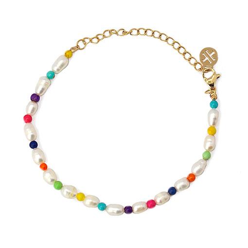 pulsera perlas color