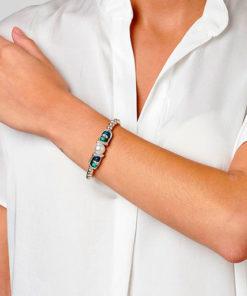pulsera coralina de la marca uno de 50 compuesta por metal y cristales