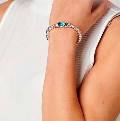 pulsera de la marca uno de 50 compuesta por metal y cristales