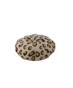 boina de la marca zarucho en estampado animal print