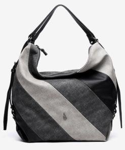 bolso hobo de la marca abaccino con cortes diagonales decorativos y asa de hombro