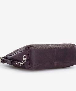 bolso hobo de piel convertible en mochila parte baja de la marca abaccino
