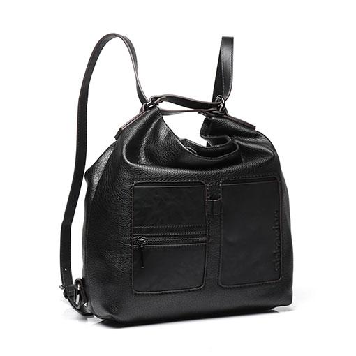 bolso trendy alauda de la marca abaccino. Multifunción como mochila y como bolso, con dos bolsillos en la parte delantera.