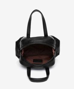 bolso trendy abierto en color negro de la marca abbacino
