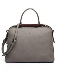 bolso trendy larus de la marca abaccino, con asa bandolera y doble cremallera, elaborado en piel