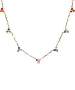 collar atenea gold de la marca kommo en detalle
