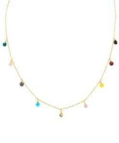 collar de bolitas de colores de la marca anartxy