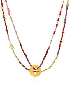 collar formado por cuentas de colores con detalle de estrella de la marca anartxy