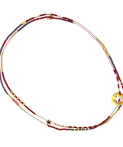 collar formado por cuentas de colores con detalle de estrella de la marca anartxy detalle