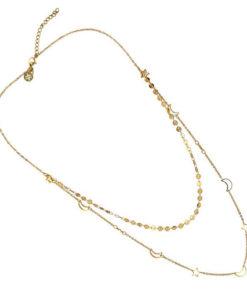 collar de doble cadena en color dorado de la marca anartxy