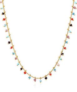collar multicharm de colores de la marca anartxy