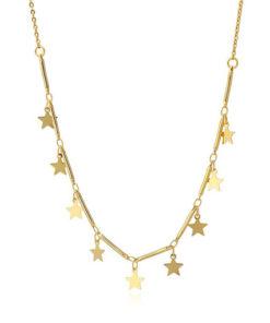collar multicharm con estrellas doradas de la marca anartxy