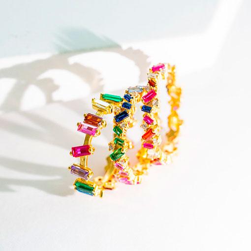 conjuntos de anillos ori gold de la marca kommo