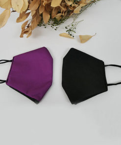 mascarilla homologada lisa en color lila