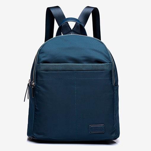 mochila de nylon de la marca abaccino en color azul